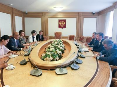 Дмитрий Новиков встретился с делегацией Китайского Народного общества за мир