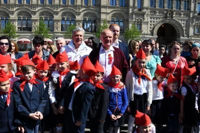 На Красной площади состоялся торжественный прием в пионеры
