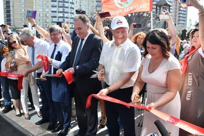 В совхозе имени Ленина открыли новый водно-спортивный оздоровительный комплекс
