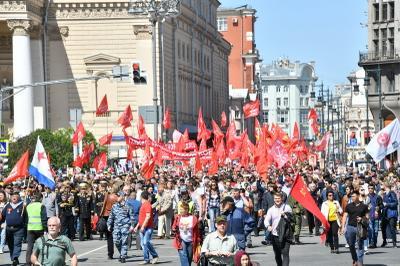 «Здравствуйте, люди советские». 9 мая в Москве состоялись шествие и митинг