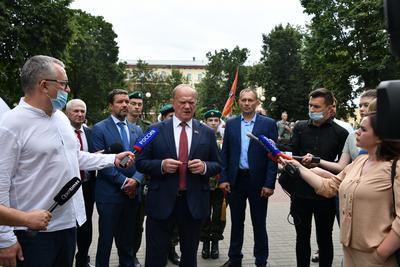 Завершился рабочий визит Геннадия Зюганова в Орел