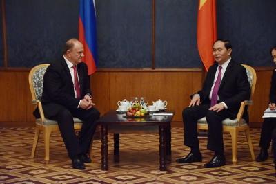 Геннадий Зюганов встретился с Президентом Вьетнама товарищем Чан Дай Куангом