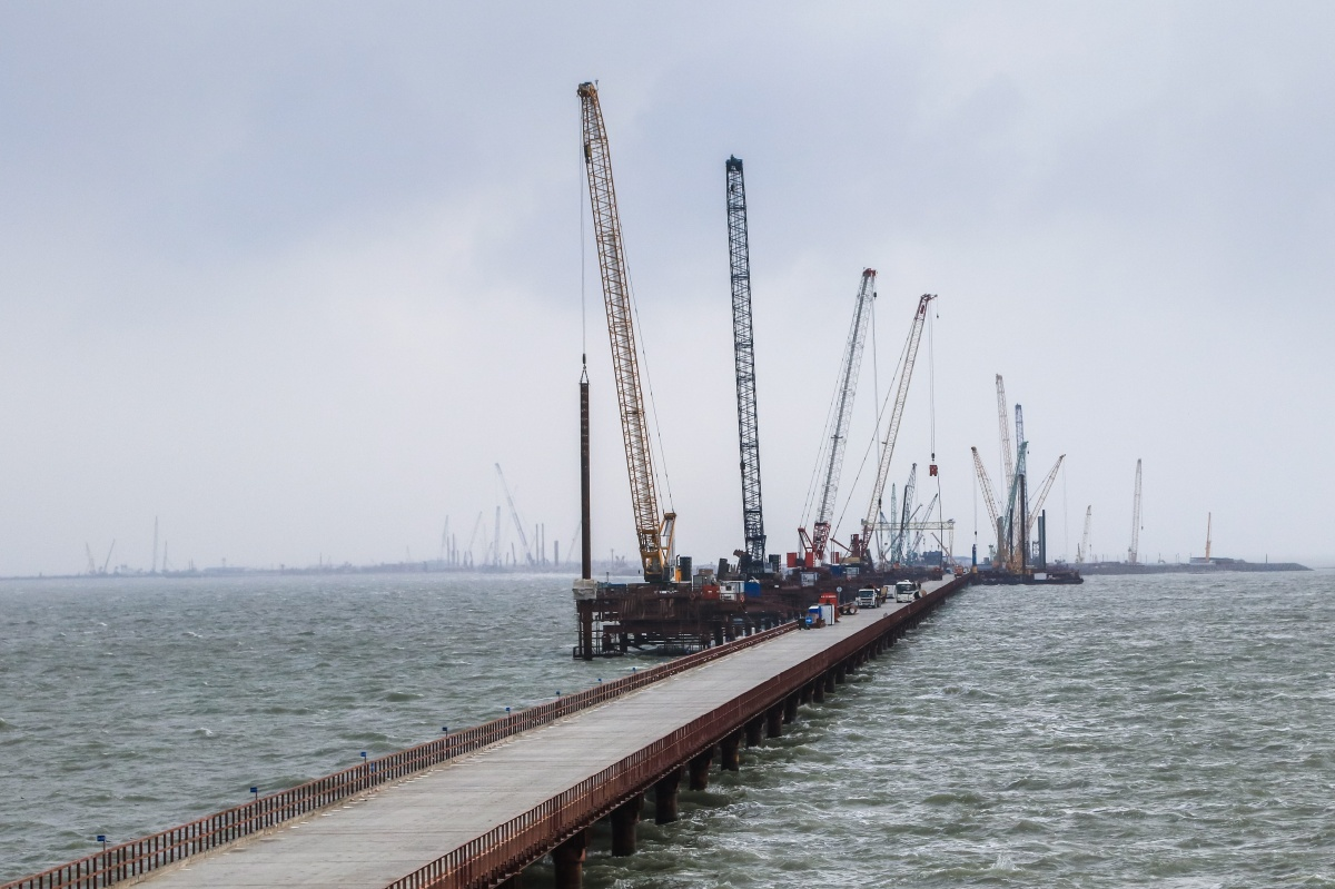 них ход строительства керченского моста фото придерживайтесь
