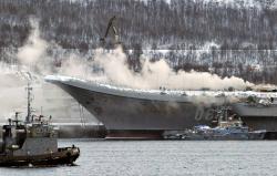Пожар на авианосце «Адмирал Кузнецов» сдвинет окончание его ремонта до 2023 года