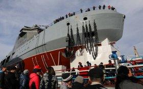 В Петербурге спустили на воду первый российский боевой ледокол