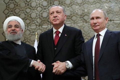 Путин, Эрдоган и Роухани договорились по ситуации в Сирии