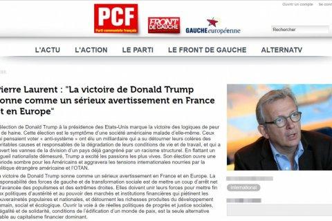 Французские коммунисты: Избрание Трампа – симптом глубокой болезни американского общества