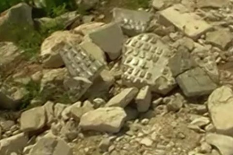 В Нижегородской области замостили дорогу обломками памятника участникам Великой Отечественной войны