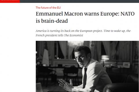 Президент Франции заявил о «смерти мозга» НАТО