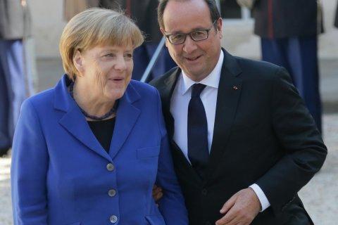 Меркель и Олланд поддержали продление антироссийских санкций