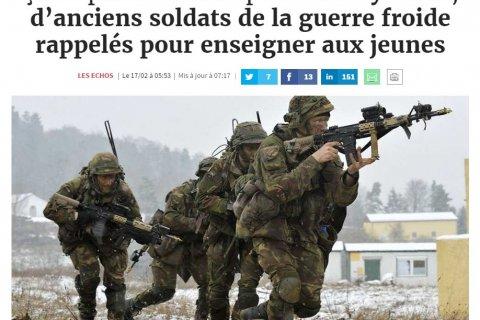 Иносми: солдат НАТО натаскивают в духе холодной войны