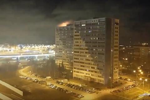 В совхозе имени Ленина сгорел рекламный шар КПРФ