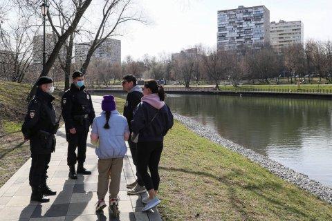 В Москве оштрафовали 9 человек за нарушение режима самоизоляции. Каждого на 15 тысяч рублей
