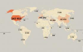 Число заболевших коронавирусом в мире превысило один миллион