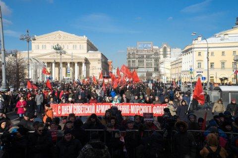 Коммунисты и «Левый фронт» подали заявку на проведение массовой акции в Москве 23 февраля