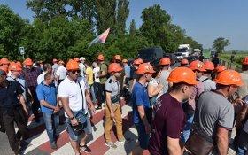 Украинские шахтеры перекрыли дороги из-за долгов по зарплате