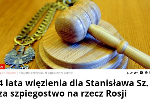 Суд Варшавы приговорил россиянина к четырем годам тюрьмы за шпионаж
