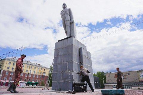 Жители Ревды протестуют против сноса памятника Ленину
