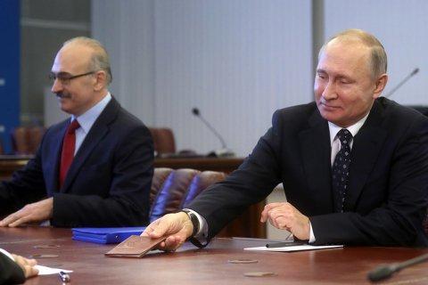 Избирательный фонд Путина оказался больше, чем у всех остальных кандидатов, вместе взятых