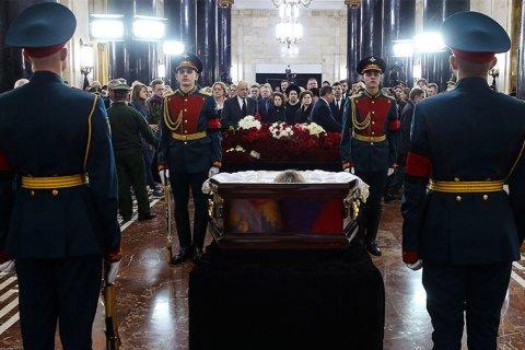 Убитый в Турции российский посол похоронен на кладбище в Химках