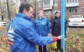 В Тульской области единороссы торжественно «открыли» дворовую сушилку для белья
