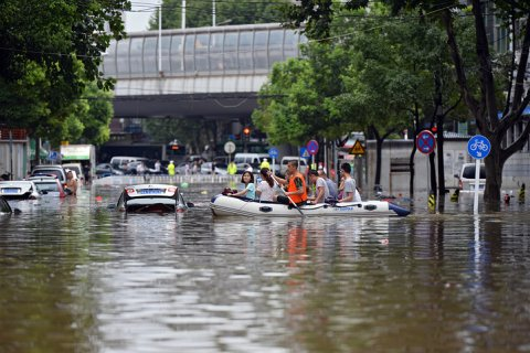 В Китае из-за паводков погибли 128 человек