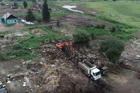 В Тулуне продолжаются защитные и восстановительные работы