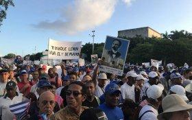 Кубинцы на первомайских демонстрациях высказались в поддержку социализма и Венесуэлы