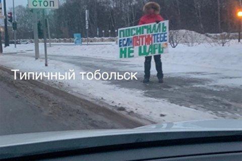Акция «Посигналь, если Путин тебе не царь» вызвала фурор в тобольских соцсетях