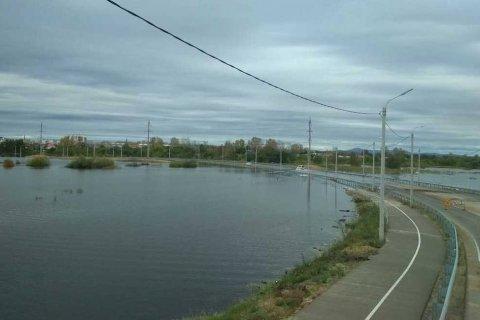 Тайфун «Линлин» затапливает Комсомольск-на-Амуре