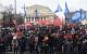 Коммунисты провели в Москве многотысячное шествие и митинг, посвященные Дню Советской Армии и Военно-Морского Флота
