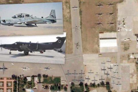 Десятки самолетов и вертолетов ВВС Афганистана успели покинуть страну до захвата Кабула талибами