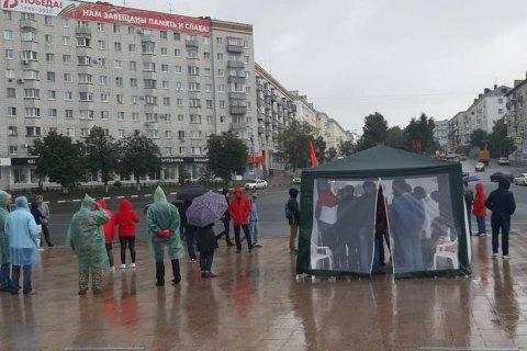 В Ульяновске коммунисты проводят бессрочную акцию протеста из-за снятия кандидатов с выборов