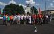 Десятки автомобилей с красными флагами проехались по улицам Москвы в поддержку кандидата на пост мэра от КПРФ Вадима Кумина