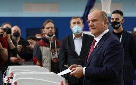 Геннадий Зюганов проголосовал на выборах депутатов Госдумы
