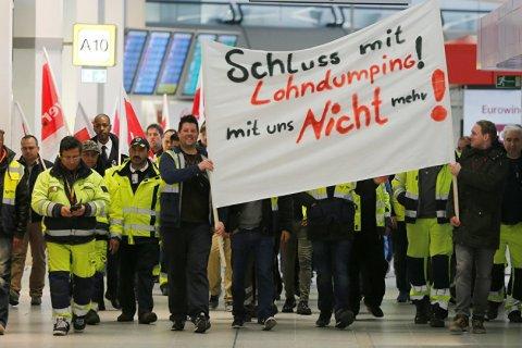 В Берлине наземный персонал аэропортов проводит 25-часовую забастовку